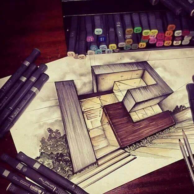 002建築設計師手稿作品