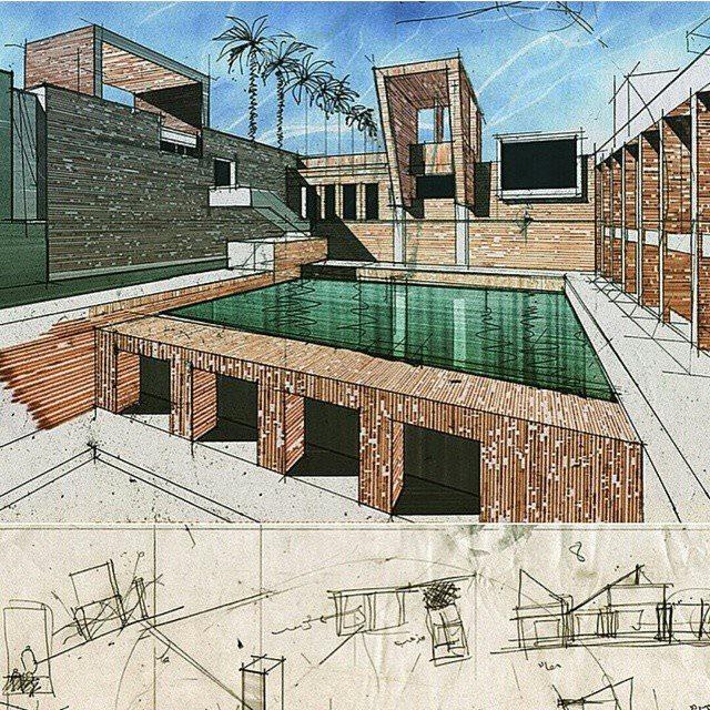 004建築設計師手稿作品