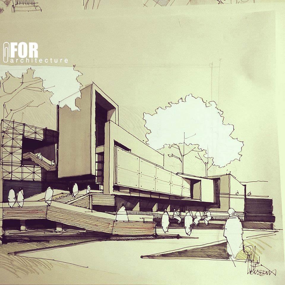 007建築設計師手稿作品
