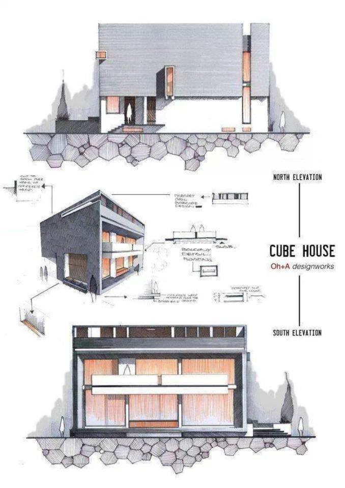 015建築設計師手稿作品