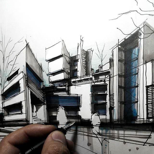 017建築設計師手稿作品