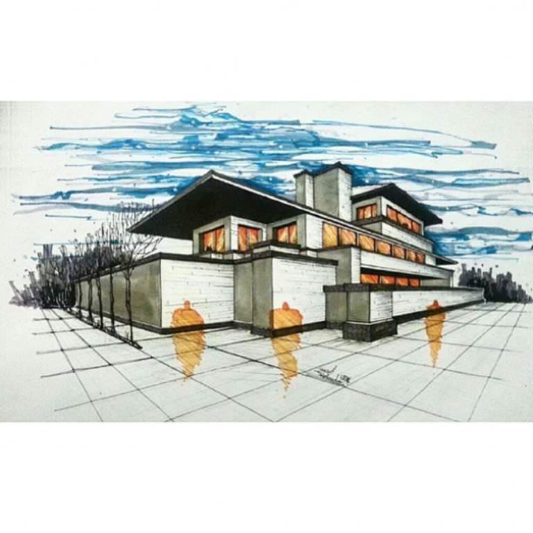 051建築設計師手稿作品