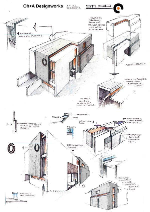 053建築設計師手稿作品
