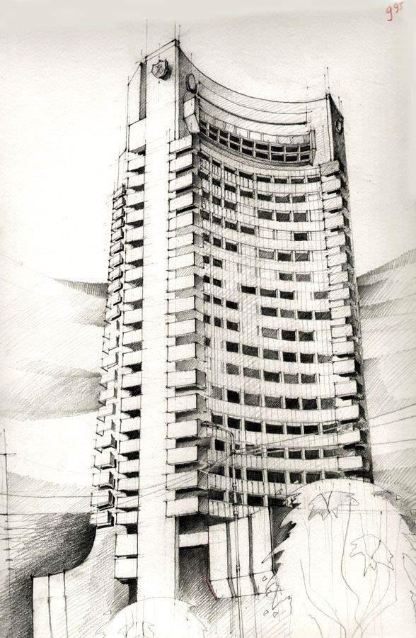 054建築設計師手稿作品