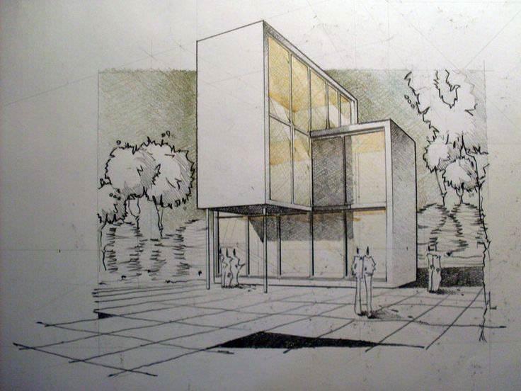 070建築設計師手稿作品