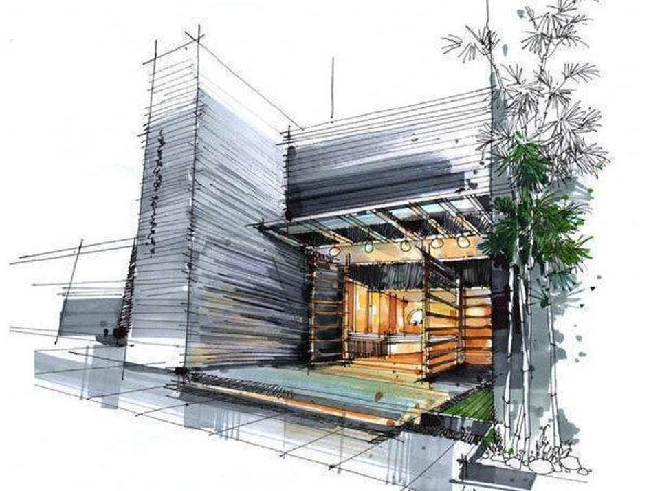 078建築設計師手稿作品