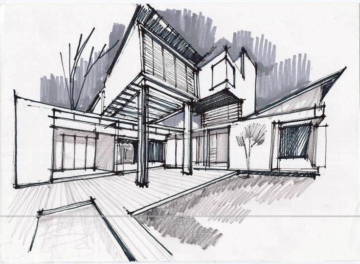 085建築設計師手稿作品