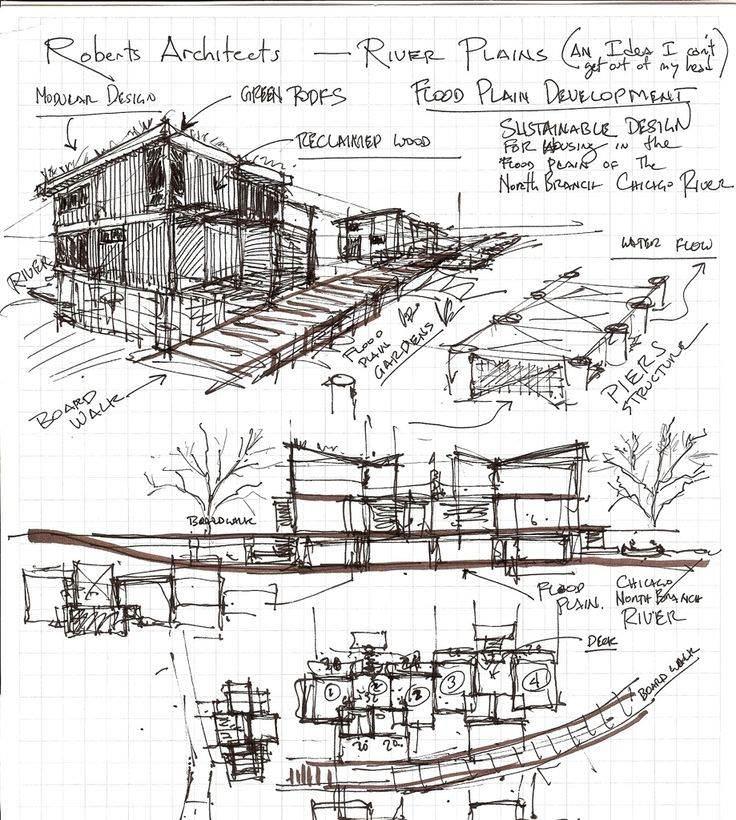 086建築設計師手稿作品