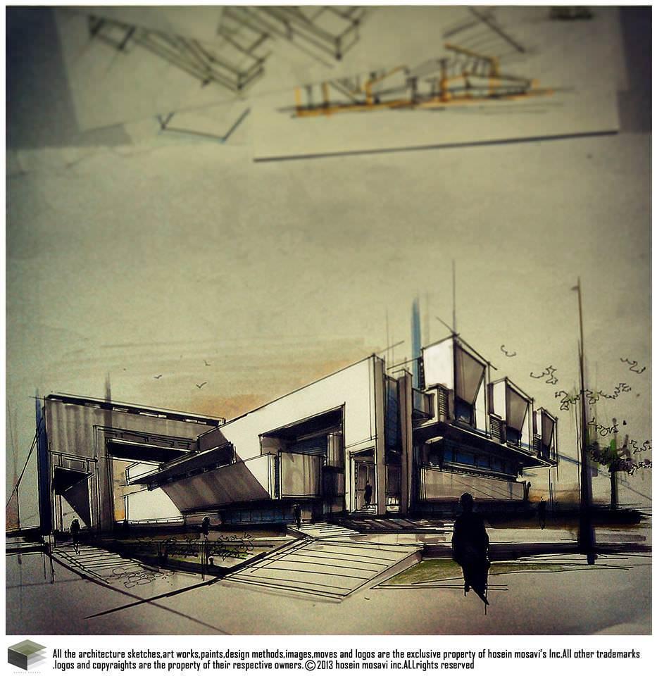 092建築設計師手稿作品