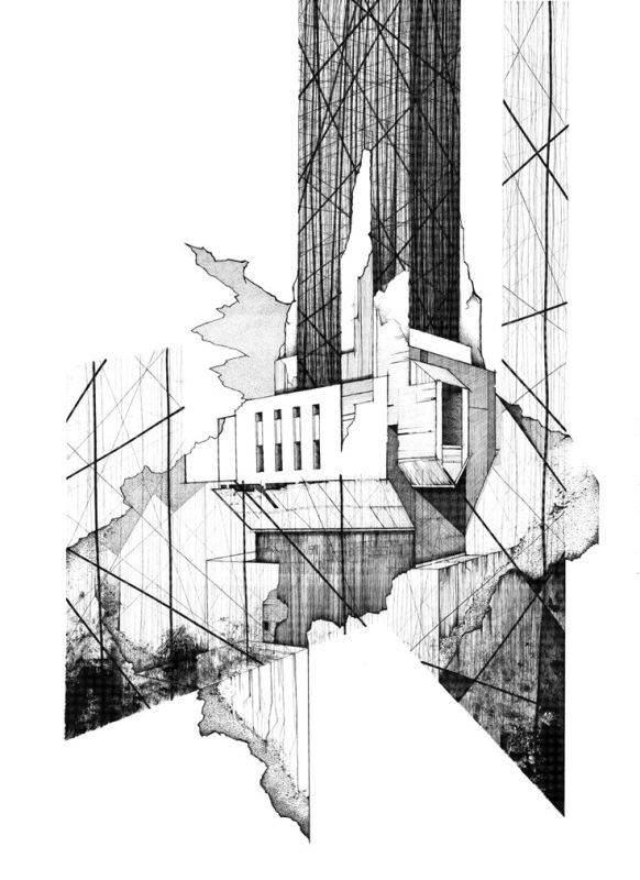 114建築設計師手稿作品
