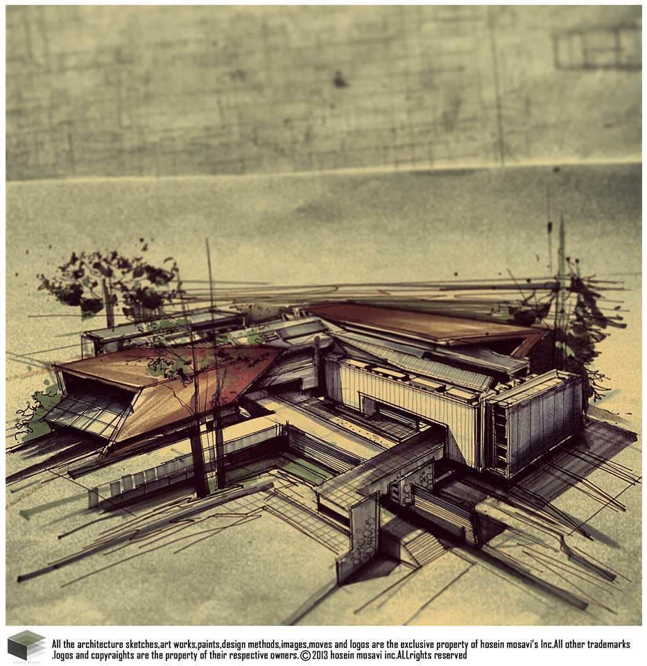 115建築設計師手稿作品