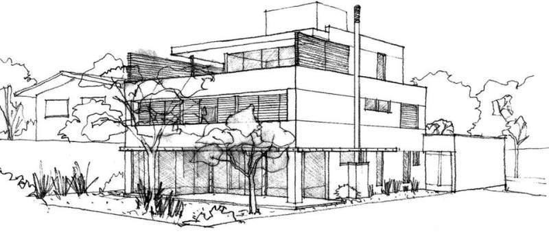 126建築設計師手稿作品