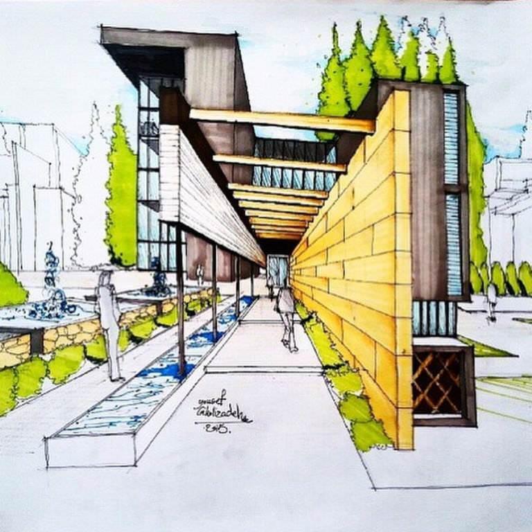 127建築設計師手稿作品