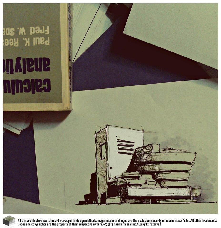 137建築設計師手稿作品