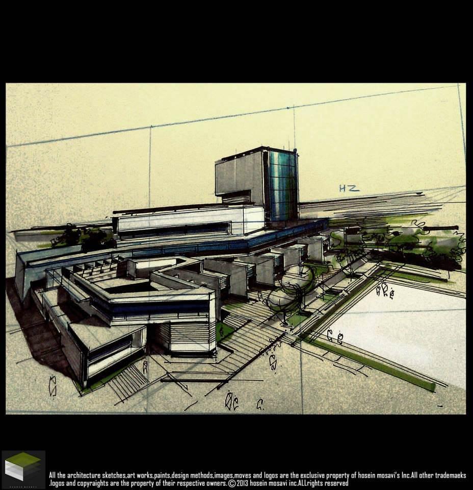138建築設計師手稿作品