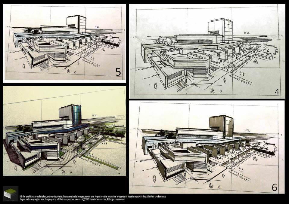 139建築設計師手稿作品