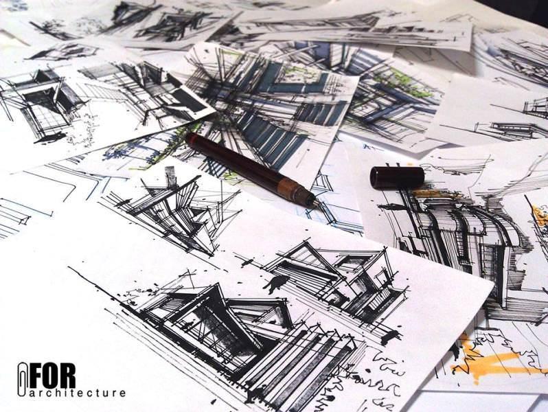 140建築設計師手稿作品