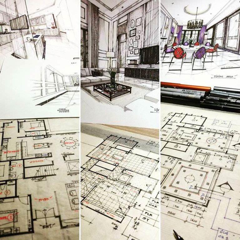 144建築設計師手稿作品