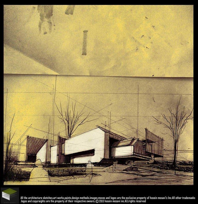 146建築設計師手稿作品
