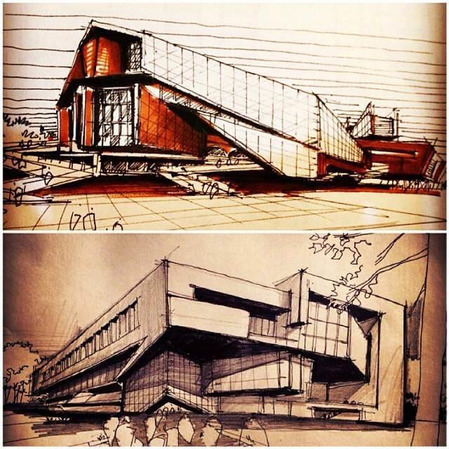 147建築設計師手稿作品