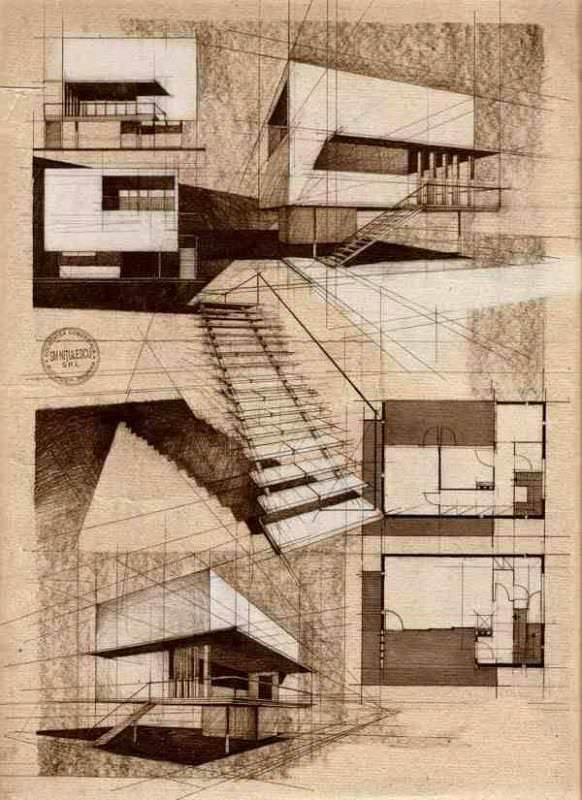 148建築設計師手稿作品