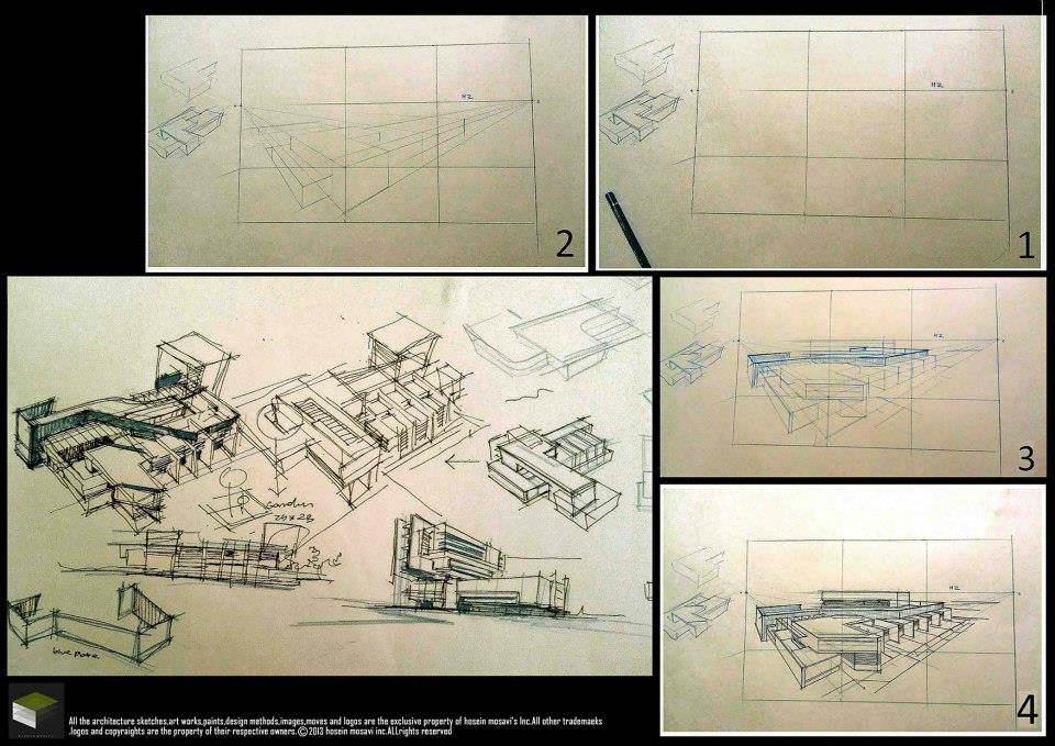 152建築設計師手稿作品