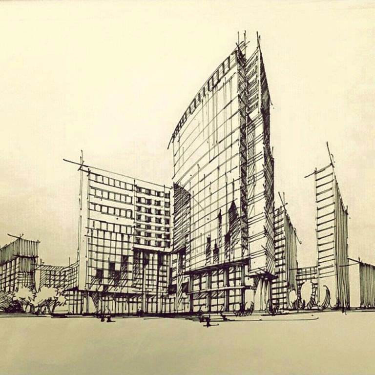153建築設計師手稿作品