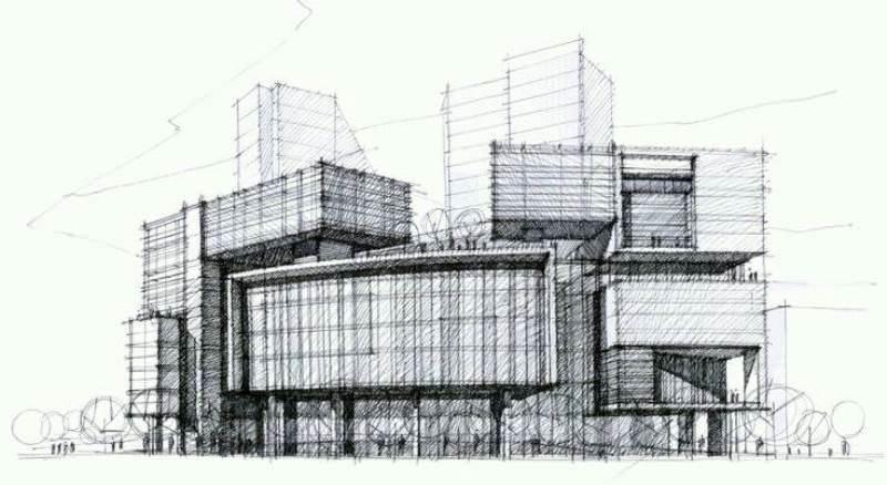 158建築設計師手稿作品