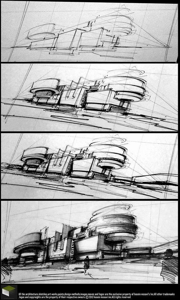 160建築設計師手稿作品
