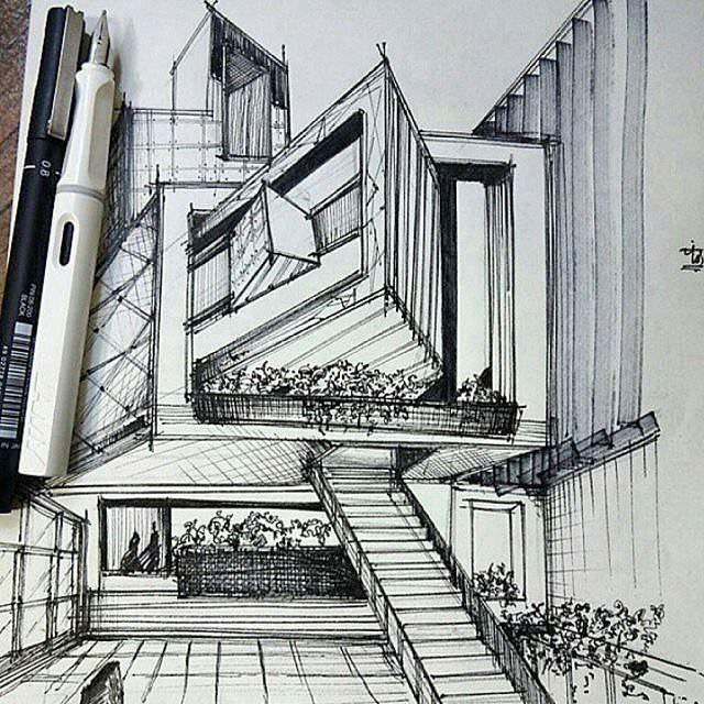 162建築設計師手稿作品