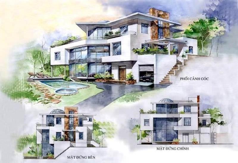 177建築設計師手稿作品