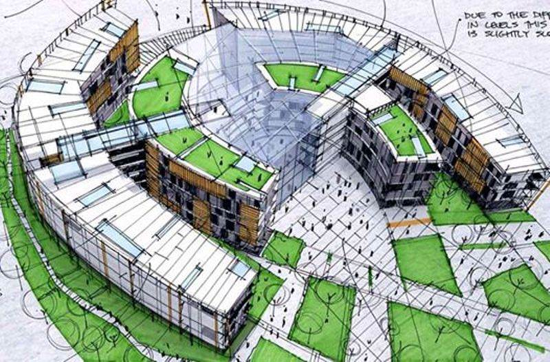 181建築設計師手稿作品