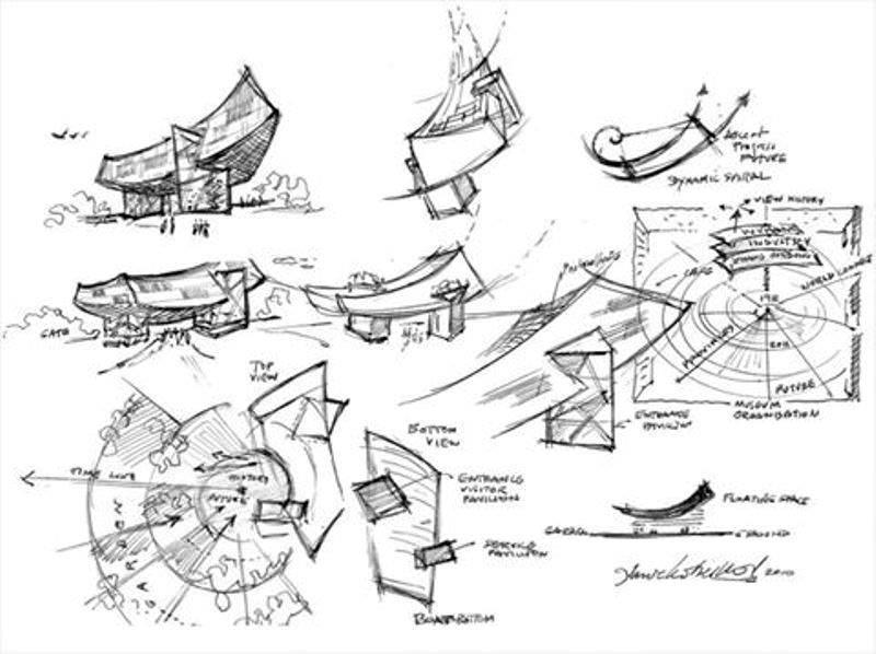 183建築設計師手稿作品