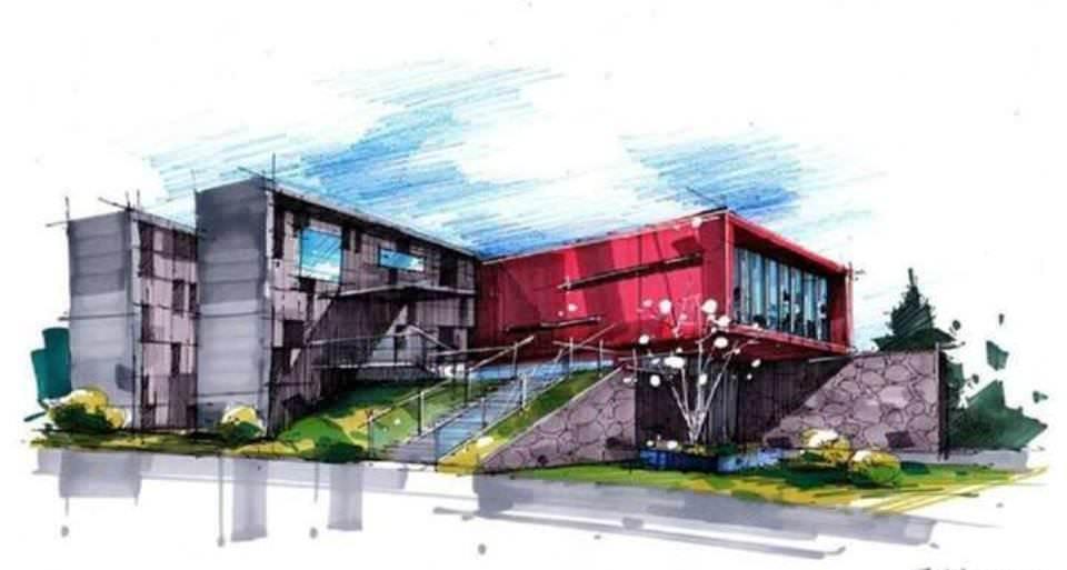 184建築設計師手稿作品