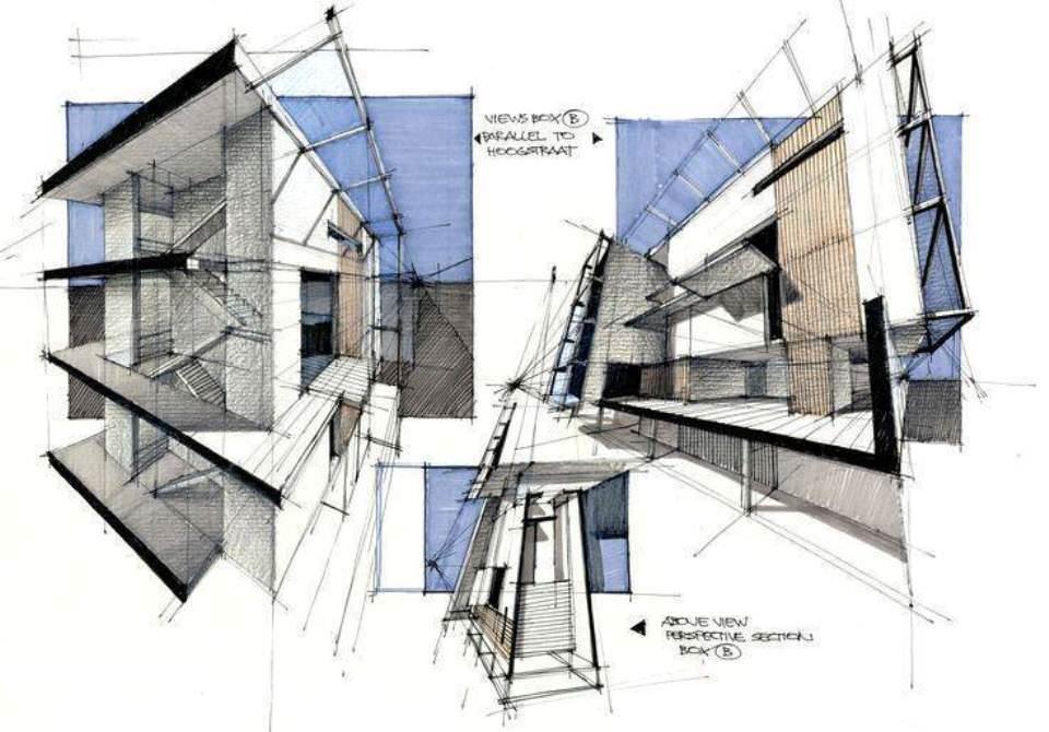 187建築設計師手稿作品