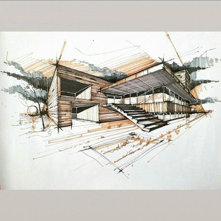 189建築設計師手稿作品