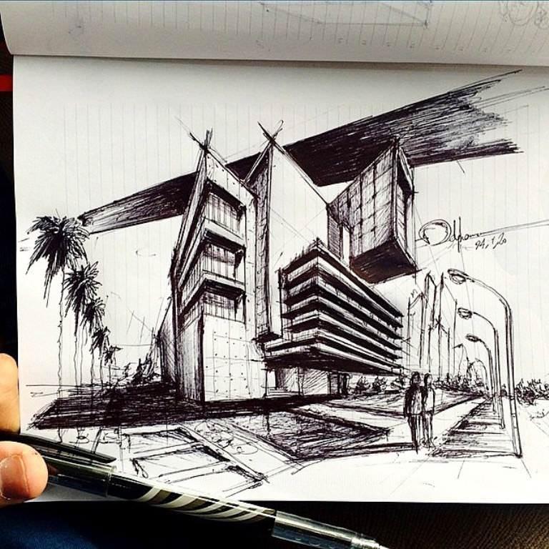192建築設計師手稿作品