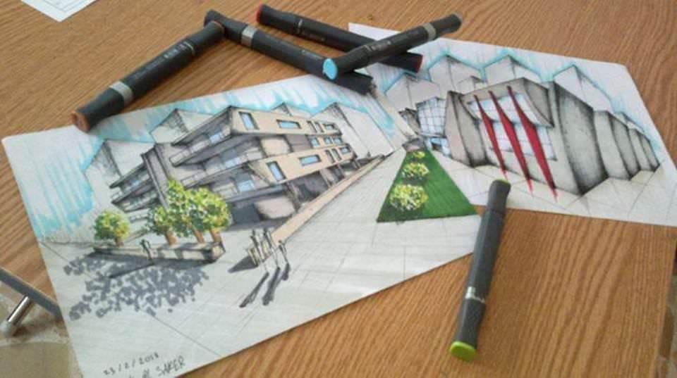 205建築設計師手稿作品