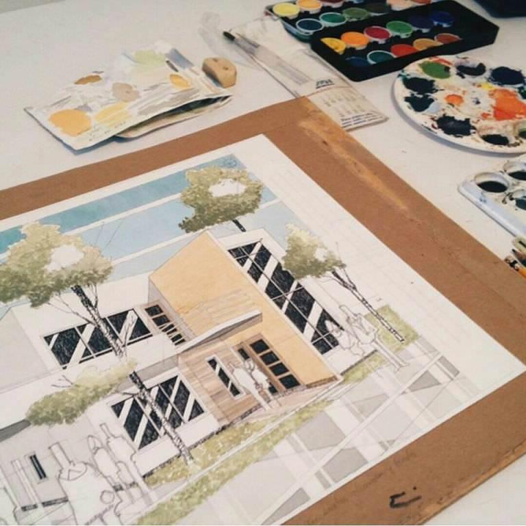 207建築設計師手稿作品