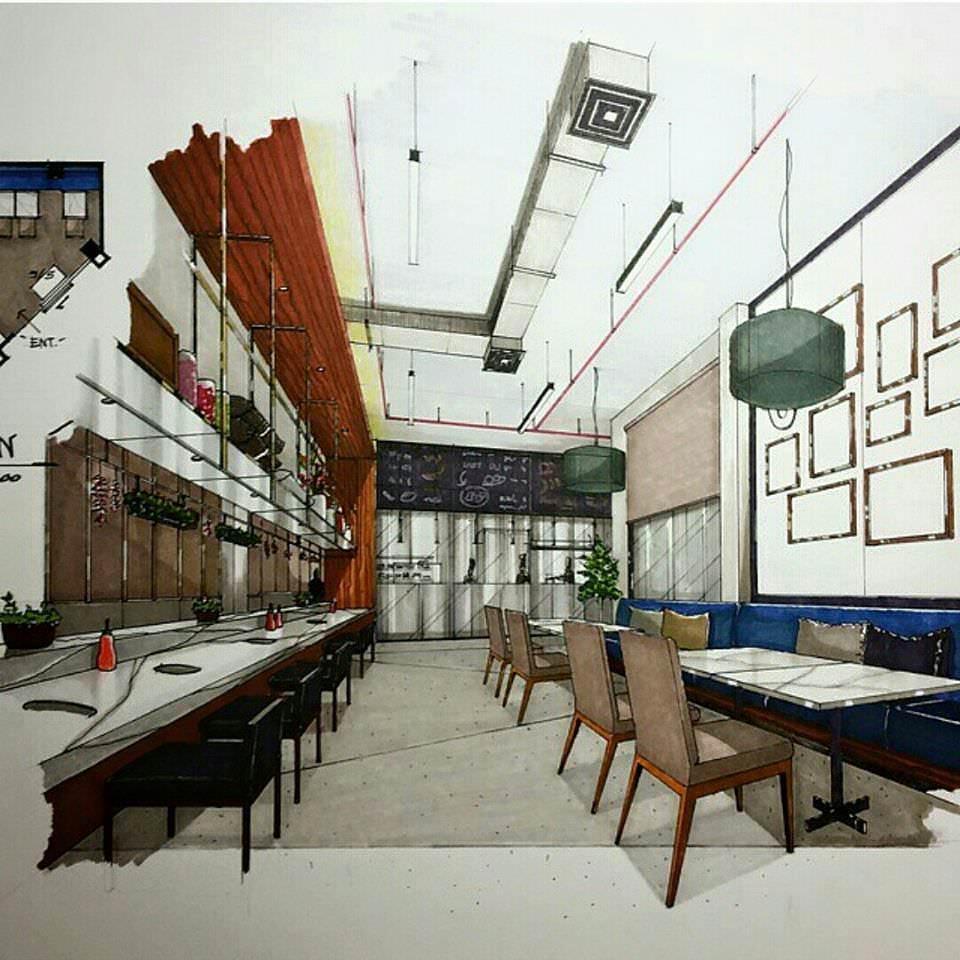 211建築設計師手稿作品