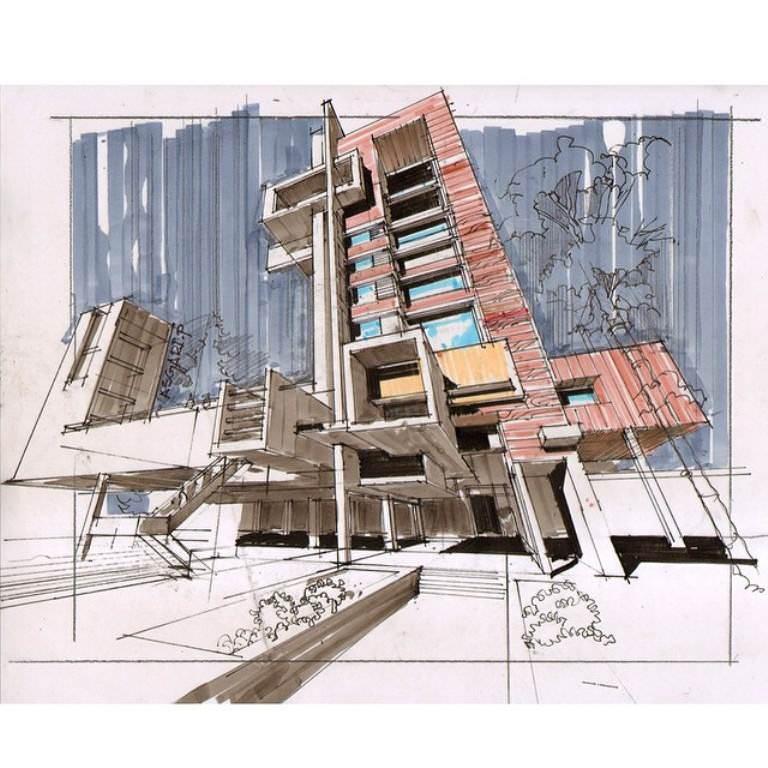 217建築設計師手稿作品