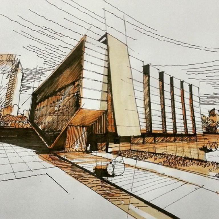 222建築設計師手稿作品
