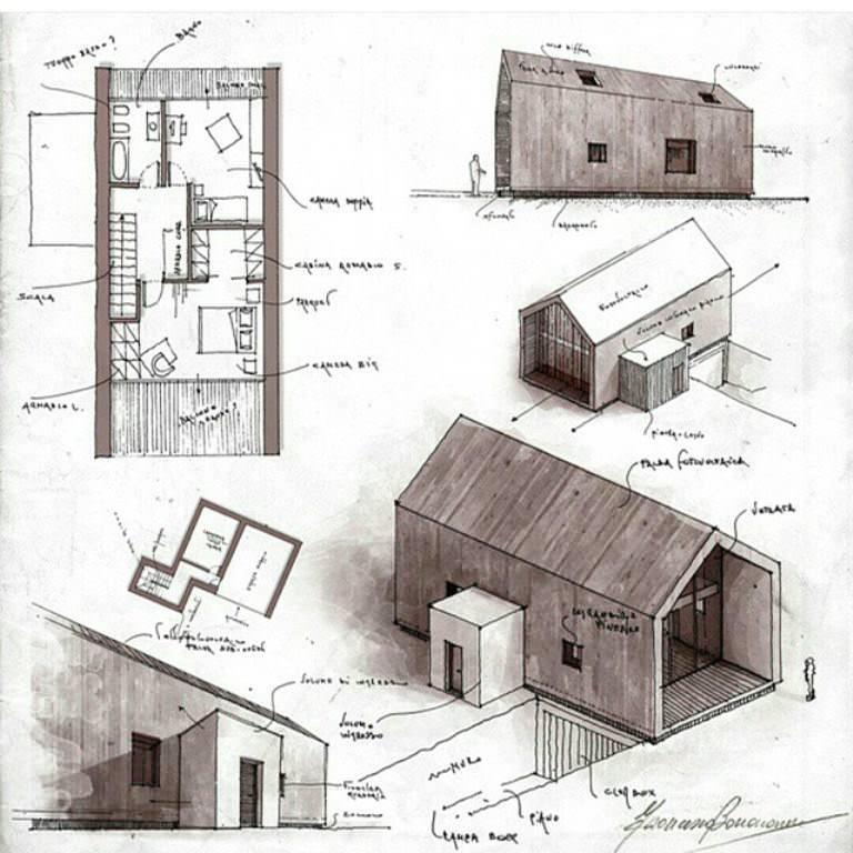 227建築設計師手稿作品