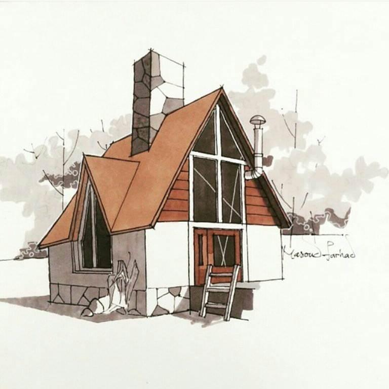 230建築設計師手稿作品