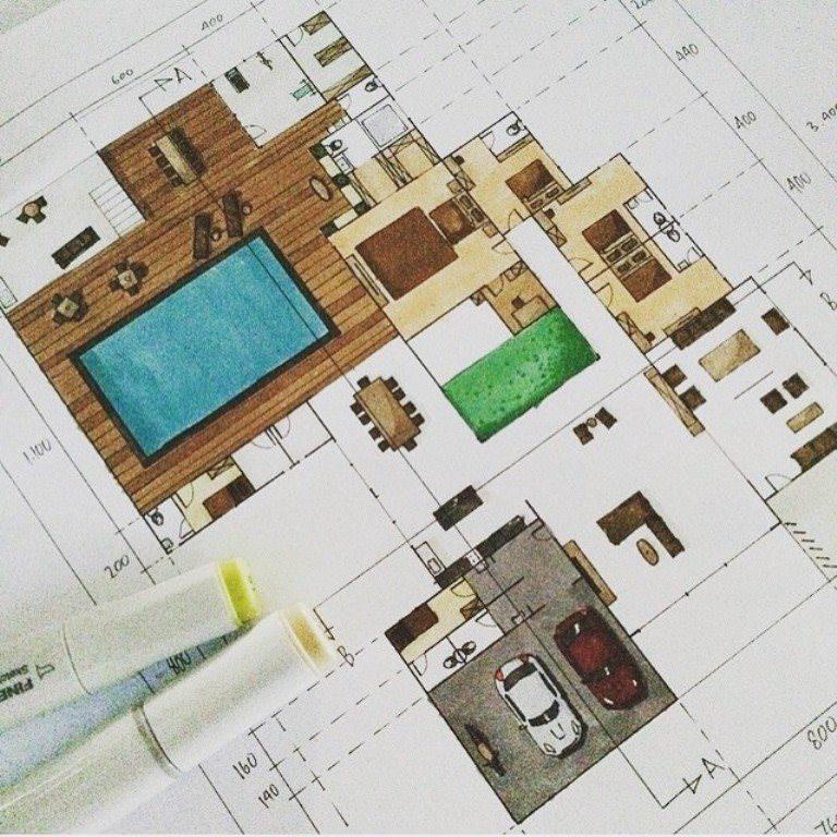 234建築設計師手稿作品