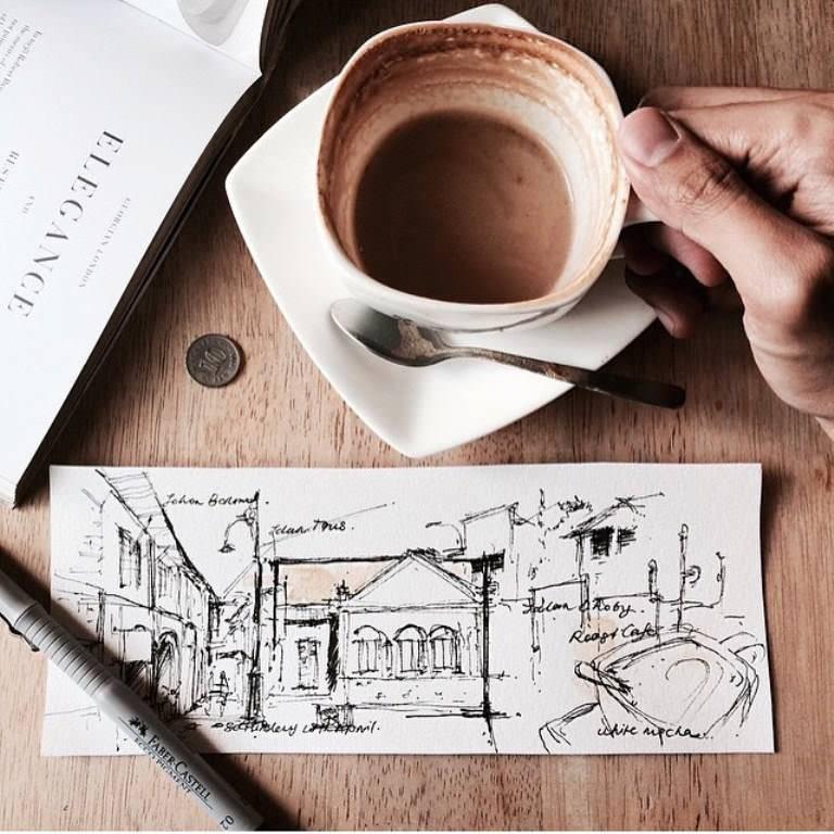 241建築設計師手稿作品