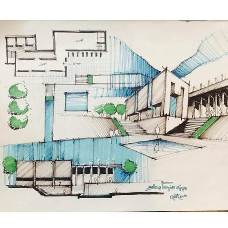 244建築設計師手稿作品