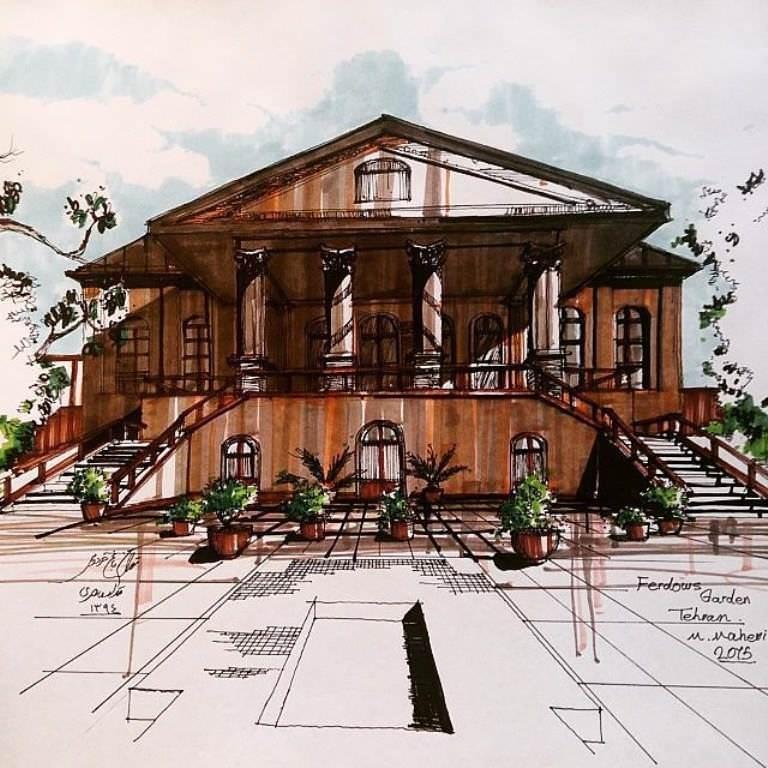 246建築設計師手稿作品