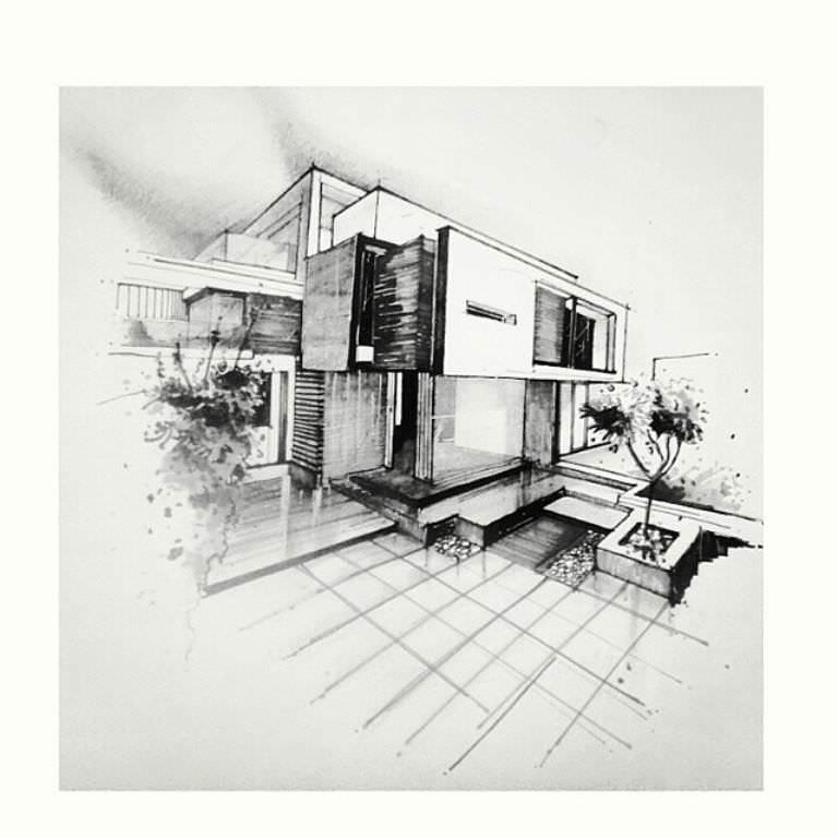 257建築設計師手稿作品