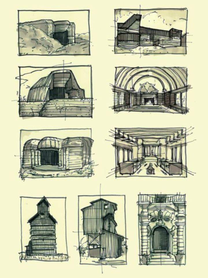 259建築設計師手稿作品